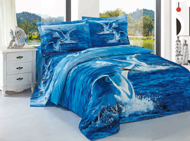 Комплект постельного белья евро 3D.