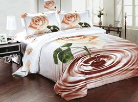 Комплект постельного белья евро, 3D.