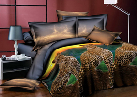 3D SL Комплект постельного белья двуспальный, 4 предмета