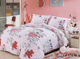 KAZANOV.A Амати (белый) абстракция Комплект детского постельного белья, 4 предмета