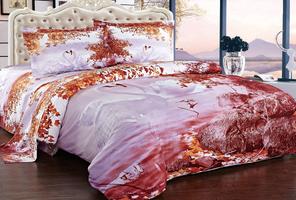 Сатин PREMIUM 3D SL Комплект постельного белья евро