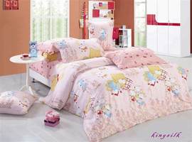 Kingsilk Комплект постельного белья 4 предмета 1,5 спальный