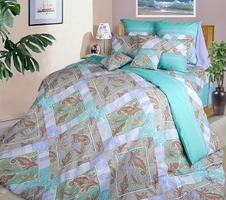 Текс Дизайн Комплект постельного белья «Бахчисарай» евро 1, 4 предмета.