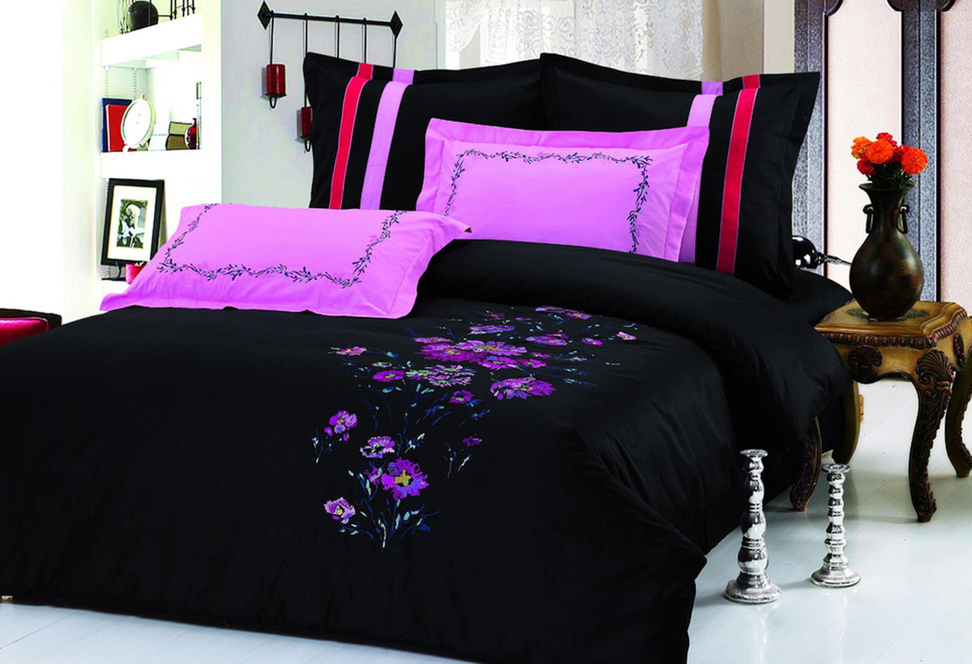 Черное с розовым белье 11 фотография