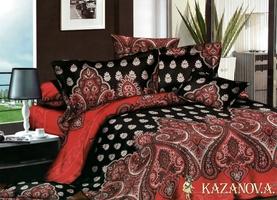 KAZANOV.A Диваж Комплект постельного белья семейный, 7 предметов