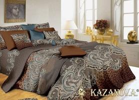 KAZANOV.A Эсмеральда (медно-бежевый) абстракция Комплект постельного белья евро, 6 предметов