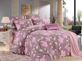KAZANOV.A Франка (старо-розовый) цветы Комплект постельного белья евро, 6 предметов