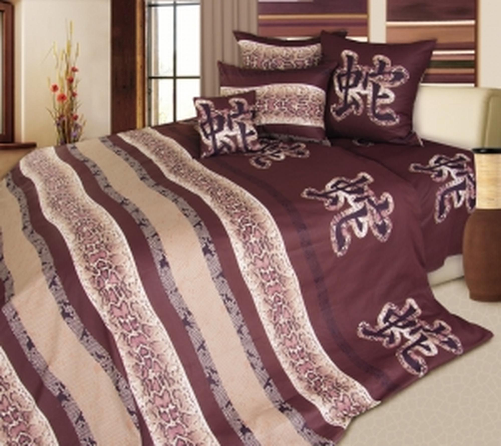 Текс Дизайн Комплект постельного белья «Год Змеи 2» евро 1, 4 предмета.