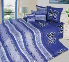 """Текс Дизайн Комплект постельного белья «Год Змеи 4"""" евро, 4 предмета."""