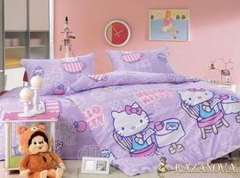 KAZANOV.A Kitty Lavender (сиреневый) абстракция Комплект детского постельного белья, 4 предмета