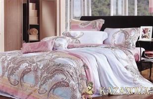 KAZANOV.A Лайма (сиреневый) абстракция Комплект постельного белья евро, 6 предметов