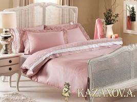 KAZANOV.A MELANIE (Pink)  Комплект постельного белья евро, 6 предметов