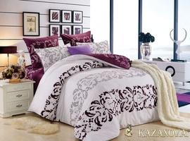 KAZANOV.A Николь (лила) орнамент Комплект постельного белья евро, 6 предметов
