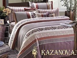 KAZANOV.A Пьемонт (лиловый) классика Комплект постельного белья евро, 6 предметов
