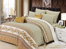 KAZANOV.A Римини (зеленый) классика Комплект постельного белья евро, 6 предметов
