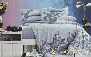 KAZANOV.A Селеста (жемчужный) классика  Комплект постельного белья евро, 6 предметов