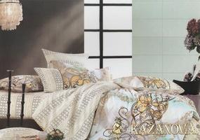KAZANOV.A Шарль (молочный) классика Комплект постельного белья евро, 6 предметов