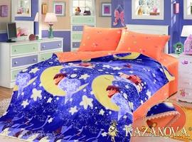 KAZANOV.A Сладкий сон (синий) абстракция Комплект детского постельного белья, 4 предмета