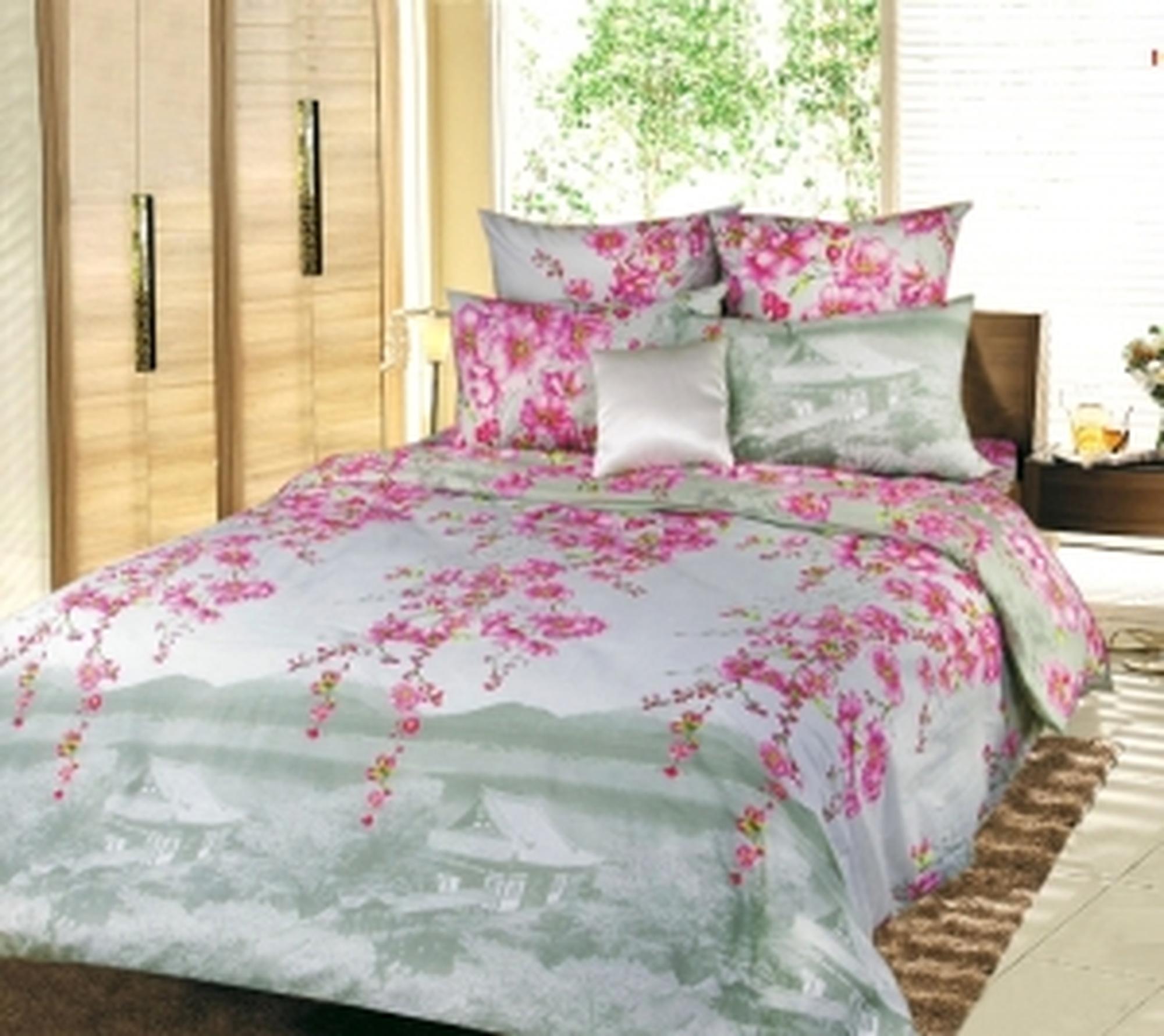 Текс Дизайн Комплект постельного белья «Весенняя соната 2» евро, 4 предмета.